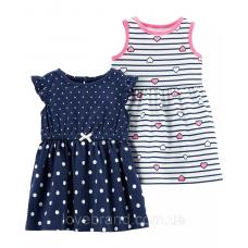 Платье Carter's для девочек ( в горошек)