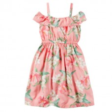Платье Carter's для девочек (персиковое)