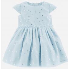 Платье Carter's для девочек (голубое)