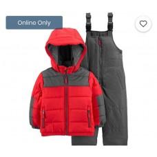 Комбинезон зимний Carter's для мальчиков (красный с серым)