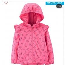 Ветровка Carter's для девочек (розовая ДИНО)
