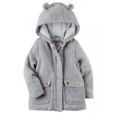 Пальто  Carter's для девочек (серый Теди)